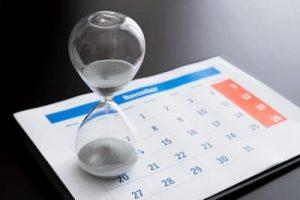 Calendar and Hour Glass